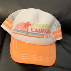 Roxy white orange mesh adjustable hat